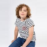 Vallmo  - Randig t-shirt till barn