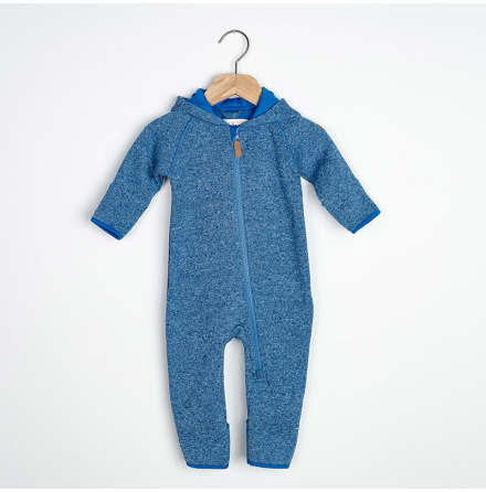 Eden - Blå fleeceoverall till baby