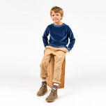 Jacory - Blå tröja i velour till barn