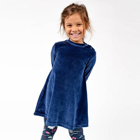 Jaden - Blå klänning i velour till barn & baby