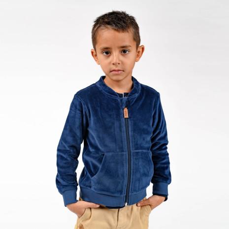 Jamone - Blå jacka i velour till barn & baby