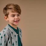 Berkely - Mönstrad sweatshirtjacka till barn