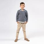 Matteus - Stickad tröja i fiskbensmönster till barn