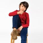 Faustino - Blå manchesterbyxa till barn