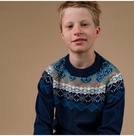 Marius - Stickad tröja till barn