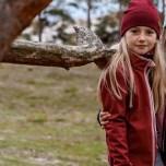 Dacian - Vinröd softshelljacka till barn