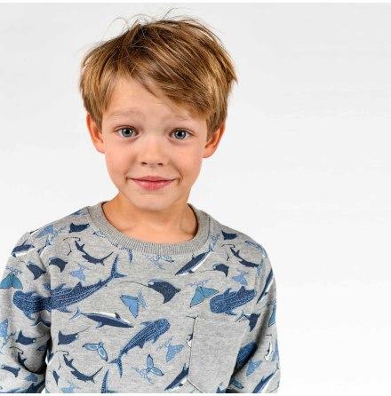 Berry - Mönstrad sweatshirt till barn