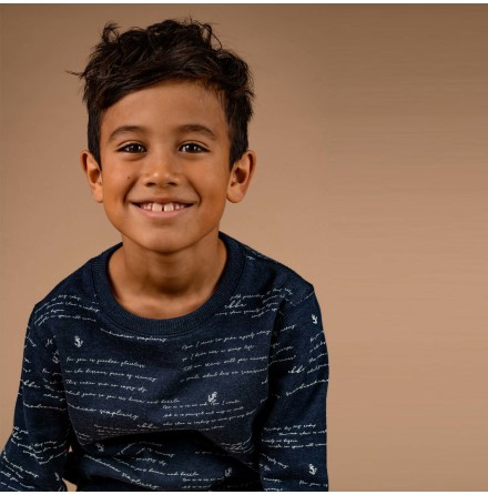 Baird - Mönstrad sweatshirt till barn