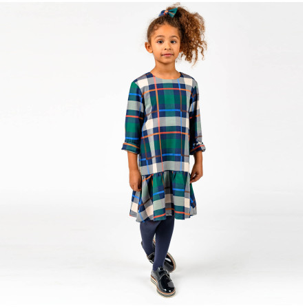 Vinja - Rutig klänning till barn