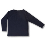 Ivo - Marinblå långärmad tröja till barn