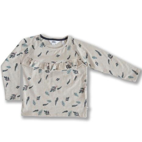 Ivy - Mönstrad tröja med volang till barn