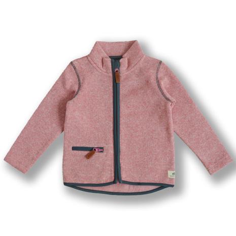 Dash - Rosa fleecejacka till barn