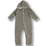 Dandy - Beigemelerad fleeceoverall till baby