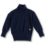 Marion - Marinblå finstickad polotröja till barn