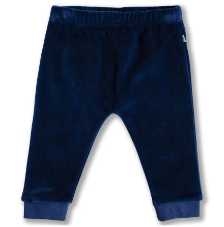 Jackson - Blå velourbyxa till baby