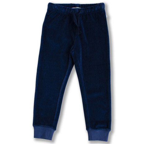 Jagger - Blå byxa i velour till barn