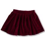 Janelle - Röd kjol i velour till barn