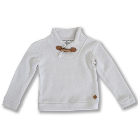 Valle - Stickad tröja med ståkrage till barn