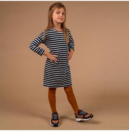 Melissa - Randig trikåklänning till barn
