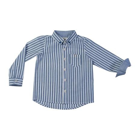 Ramon - Blårandig bomullsskjorta till barn