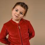 Jamone - Röd jacka i velour till barn & baby