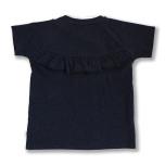 Gia - Marinblå t-shirt med volang till barn