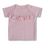 Gia - Rosa t-shirt med volang till barn