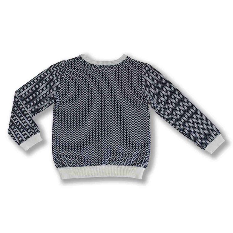Nolan Stickad tröja i fiskbensmönster till barn Ebbekids