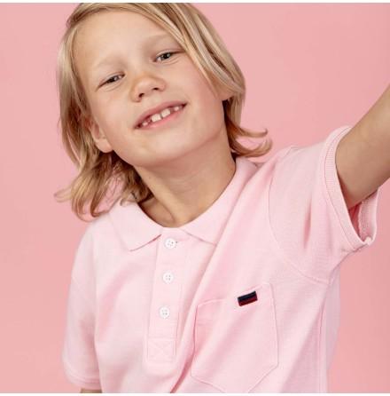 Harper - Rosa piquetröja till barn