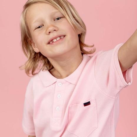 Harper - Rosa pikétröja till barn