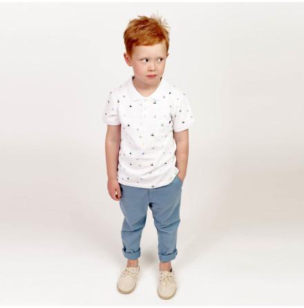 Harper - Mönstrad piquetröja till barn