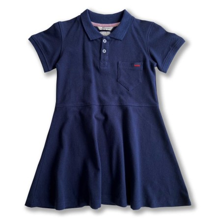 NYHET - Havanna - Marinblå piké klänning till barn