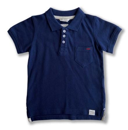 Harper - Marinblå piquetröja till barn