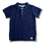 Harper - Marinblå pikétröja till barn