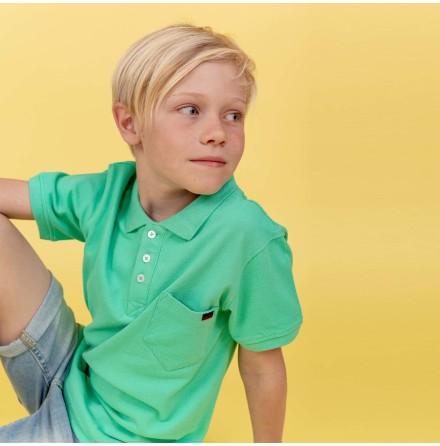 Harper - Grön piquetröja till barn