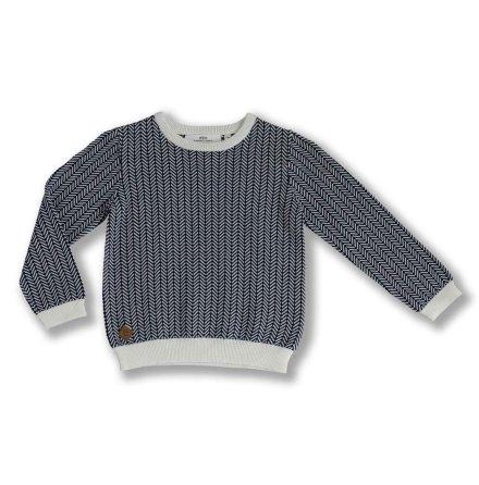 Nolan - Stickad tröja i fiskbensmönster till barn