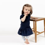 Raja - Mönstrade trikå leggings till barn