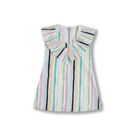 SAMPLE - Aida - Randig klänning till barn