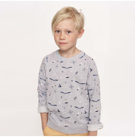 Ramsey - Mönstrad sweatshirt till barn
