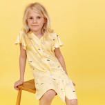 Henrietta - Mönstrad trikåklänning till barn