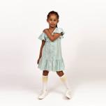 Henrietta - Randig trikåklänning till barn