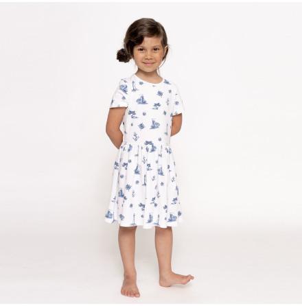 Elle - Mönstrad trikåklänning till barn