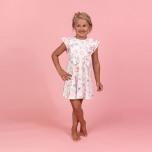 Rila - Mönstrad trikåklänning till barn