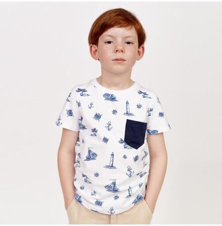 Elliot - Mönstrad t-shirt till barn
