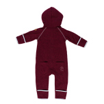 Mags - Vinröd fleeceoverall till baby