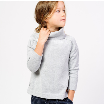 Rijanna - Stickad polotröja till barn